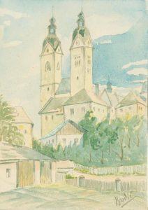 Cerkev z dvem zvonikoma