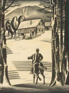 Deček na črnem konju