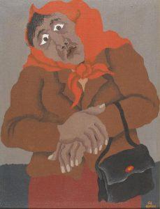 Žena s torbico